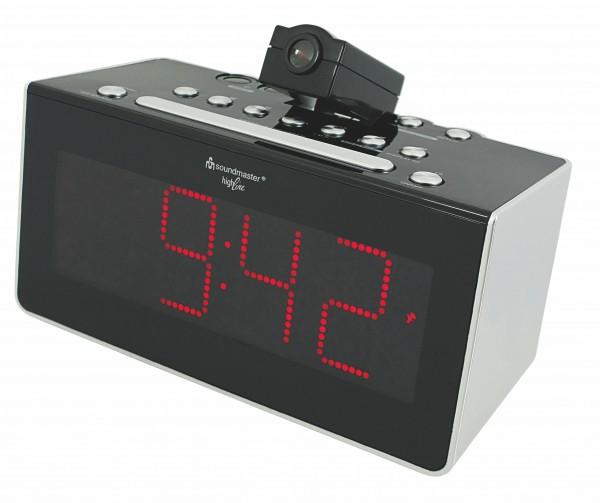 UKW-PLL Funkuhrenradio mit Projektion, Infrarotsensor und Auto-Off Display