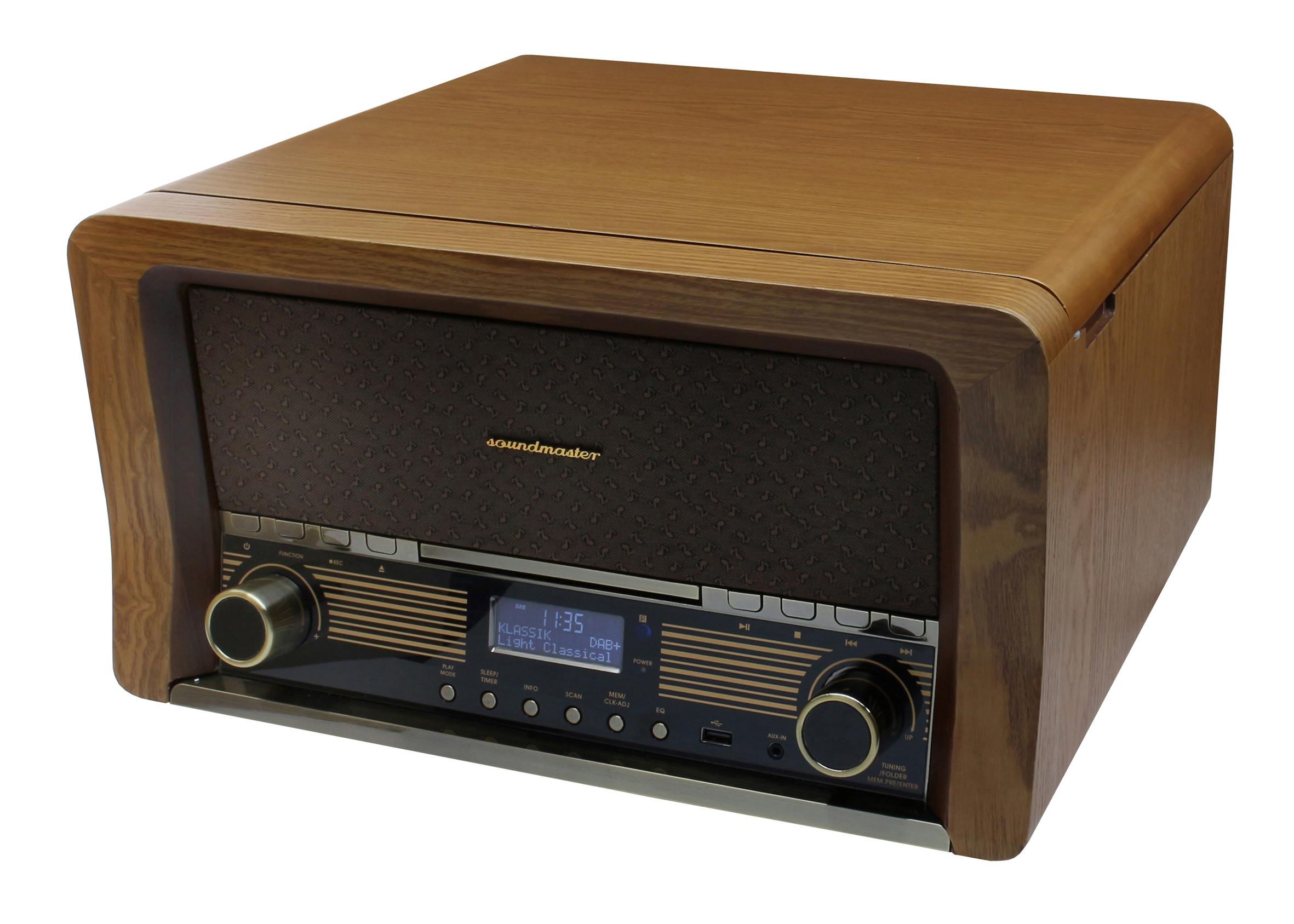 Retro HiFi Anlage mit DAB+/UKW, CD/MP3, USB ...