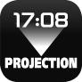 Projektion der Uhrzeit