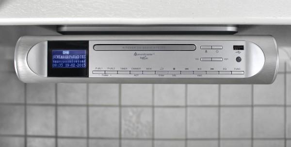 Design CD/MP3 Musik-Center zum Unterbau mit DAB+/UKW Radio und USB Anschluss