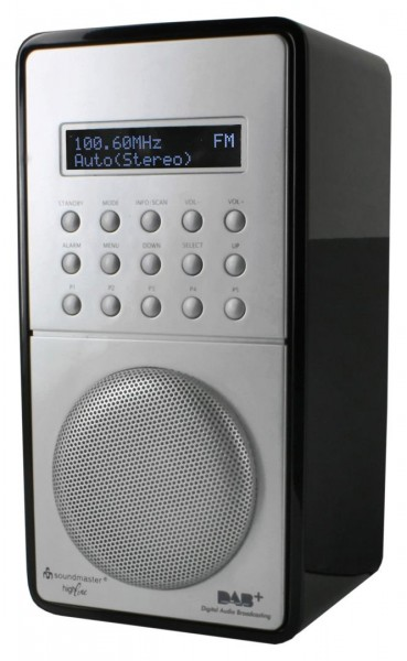 DAB+ / UKW-RDS Radio mit Festsenderspeicher und Akku