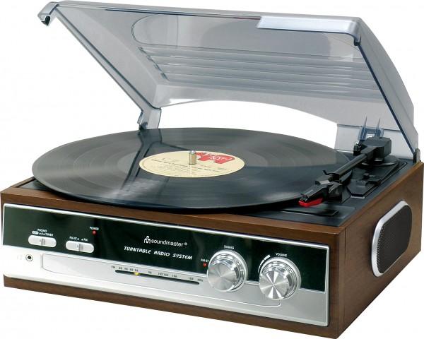 Nostalgie Plattenspieler mit Radio und eingebaute Stereolautsprecher