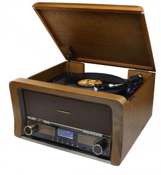 Retro HiFi Anlage mit DAB+/UKW, CD/MP3, USB, Plattenspieler und Bluetooth®