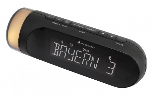 DAB+/UKW-RDS Uhrenradio mit Nachtlicht
