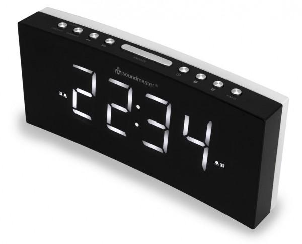 Jumbo-LED-Alarm-Uhr mit USB-Ladebuchse