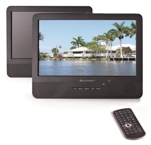 "Tragbarer DVD-Player mit 9,0""/22.86 cm Dual-TFT-LCD-Bildschirmen"