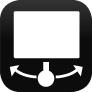 Drehbarer / schwenkbarer Bildschirm