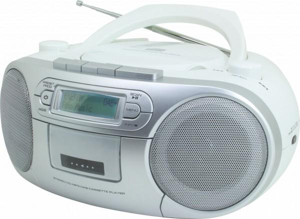 DAB+ Boombox mit CD/MP3 und Kassette