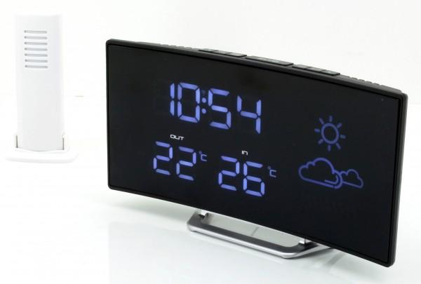 UKW- PLL Uhrenradio mit Funkuhr, Wetterstation und kabellosen Außensensor