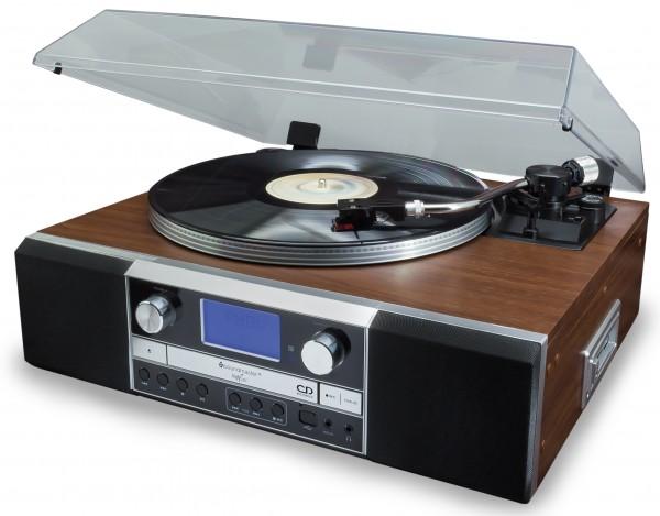 Nostalgie Musikcenter mit Plattenspieler und CD-Brenner