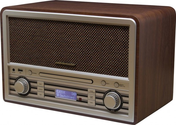 CD/MP3 Nostalgie DAB+/UKW Digitalradio mit USB und Bluetooth®