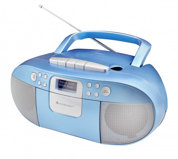 DAB+ Boombox mit CD/MP3, USB und Kassettenwiedergabe
