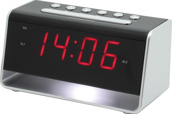 Uhr mit Nachtlicht und USB-Ladebuchse