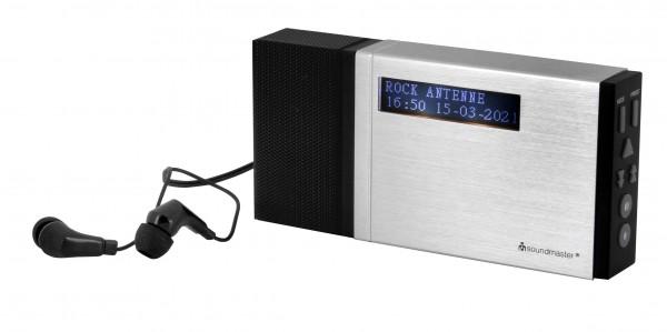 Tragbarer DAB+/UKW PLL-Radio mit eingebautem Akku im Aluminiumgehäuse