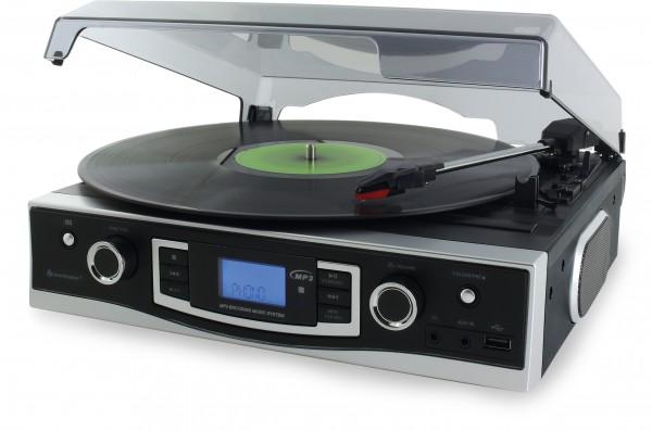 Plattenspieler mit UKW-PLL Radio und USB