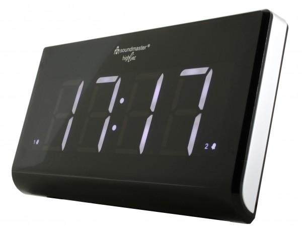 Jumbo-LED-Alarm UKW-PLL Uhrenradio mit 2 Weckzeiten und dimmbaren Display